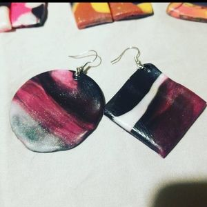 Cosmic Polymer clay Earrings